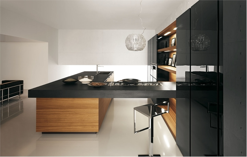 Modern Kitchen In Wooden Finish photo - 3