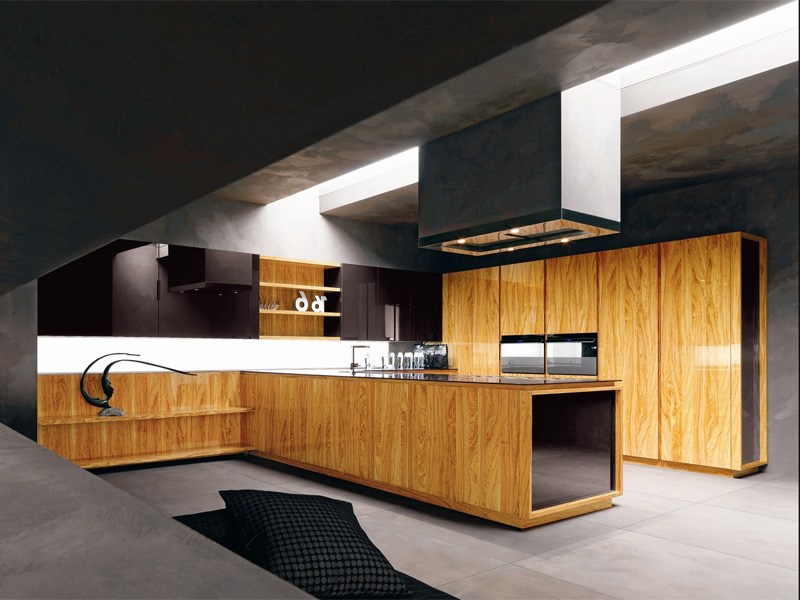 Modern Kitchen In Wooden Finish photo - 4