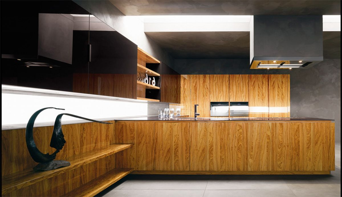 Modern Kitchen In Wooden Finish photo - 5