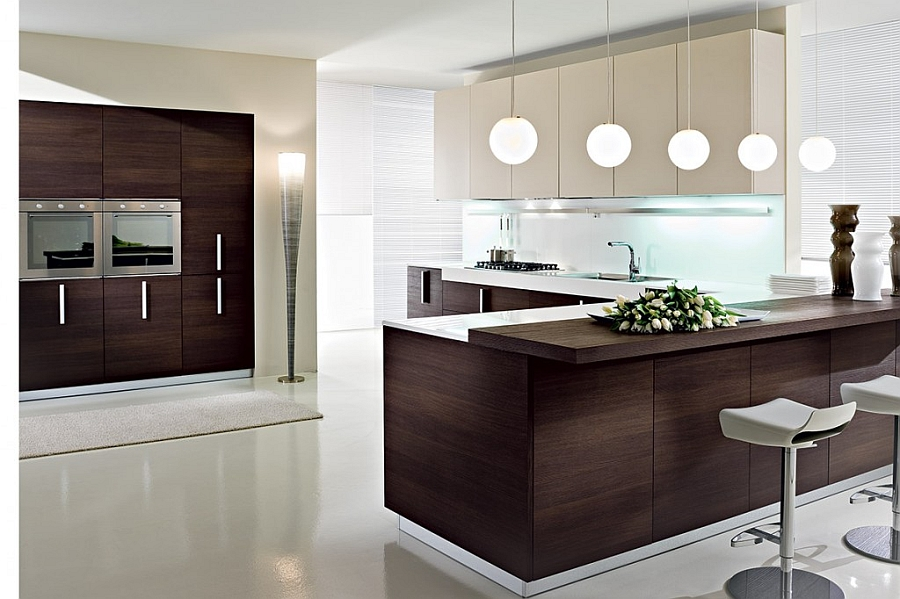 Modern Kitchen In Wooden Finish photo - 8