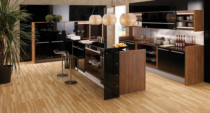 Modern Kitchen In Wooden Finish photo - 9