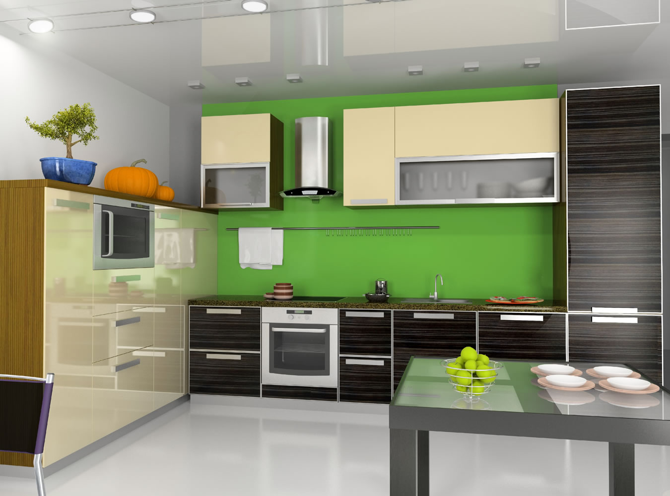 Modern Kitchen with Green Accent photo - 4
