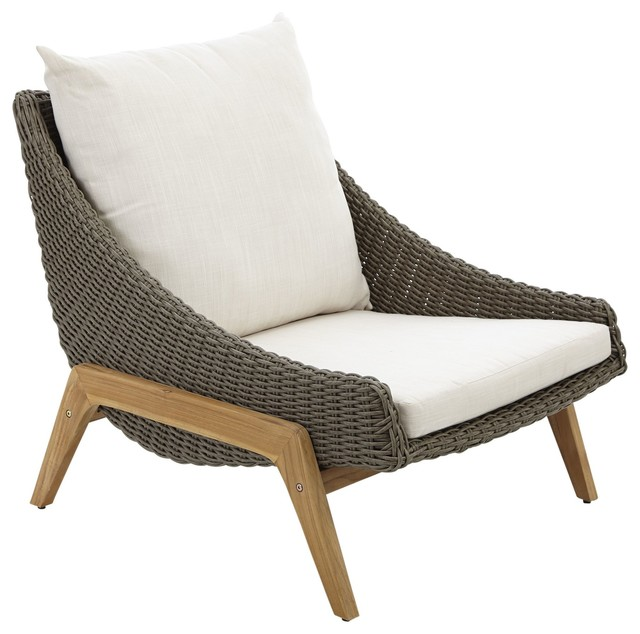 Rattan Outdoor Lounge Chair photo - 5