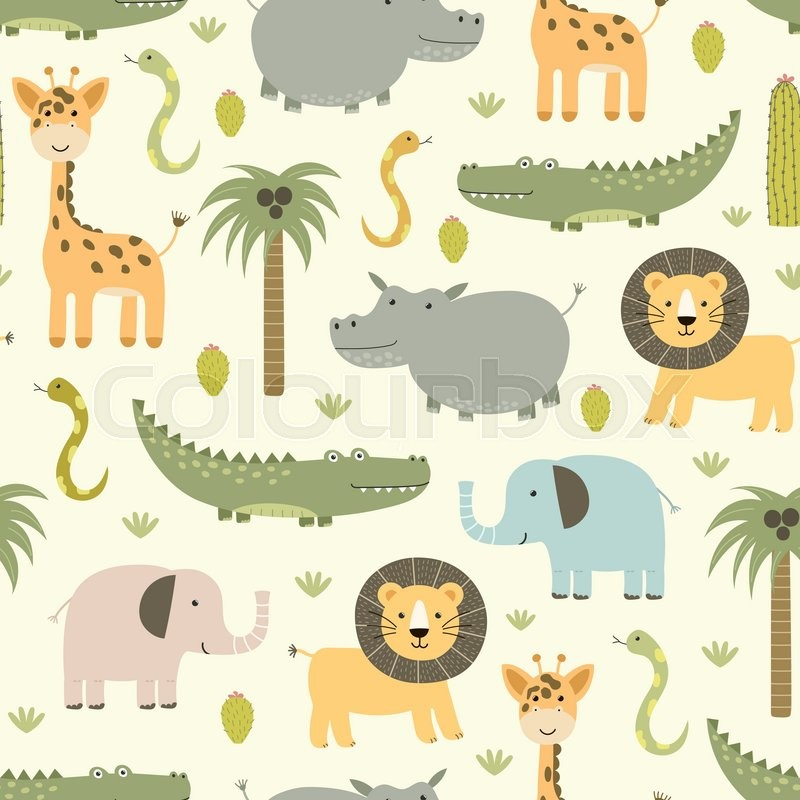 Safari Pattern Wallpaper photo - 5