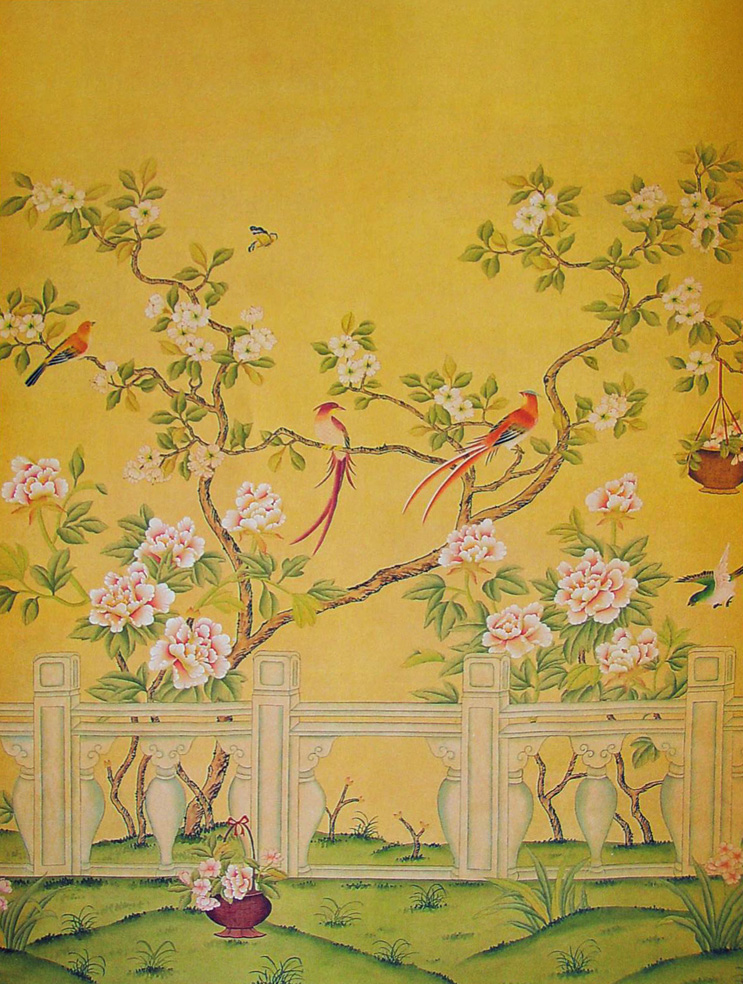 Wall with Chinese Wallpaper Design photo - 4