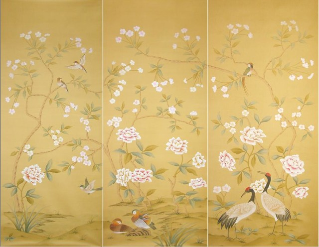 Wall with Chinese Wallpaper Design photo - 6
