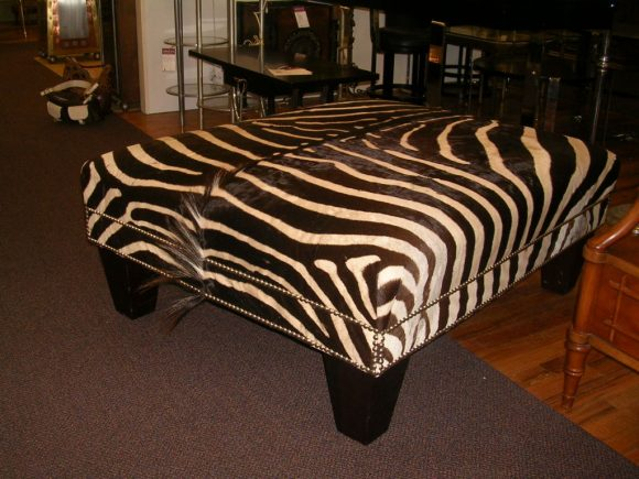 Zebra Chairs and Ottoman Center Table photo - 10