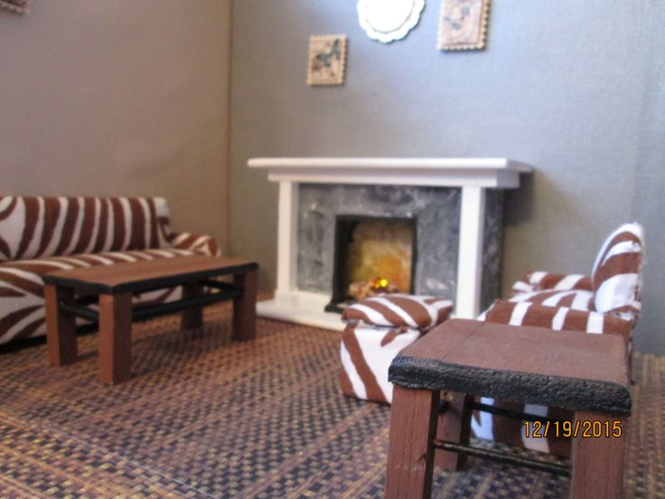Zebra Chairs and Ottoman Center Table photo - 8