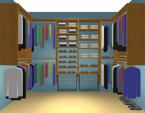 affordable walk in closet design photo - 1