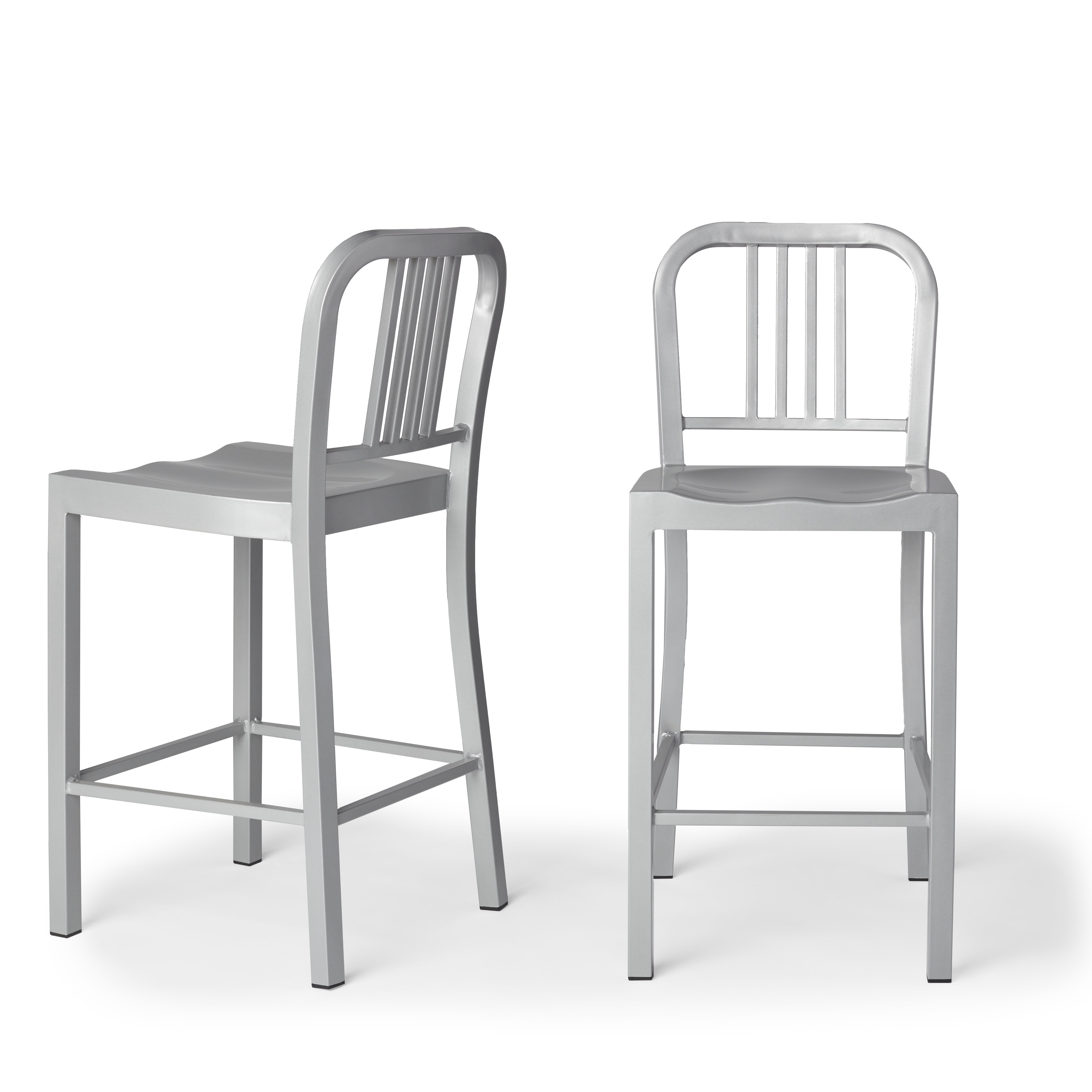 aluminum bar stools without backs photo - 8