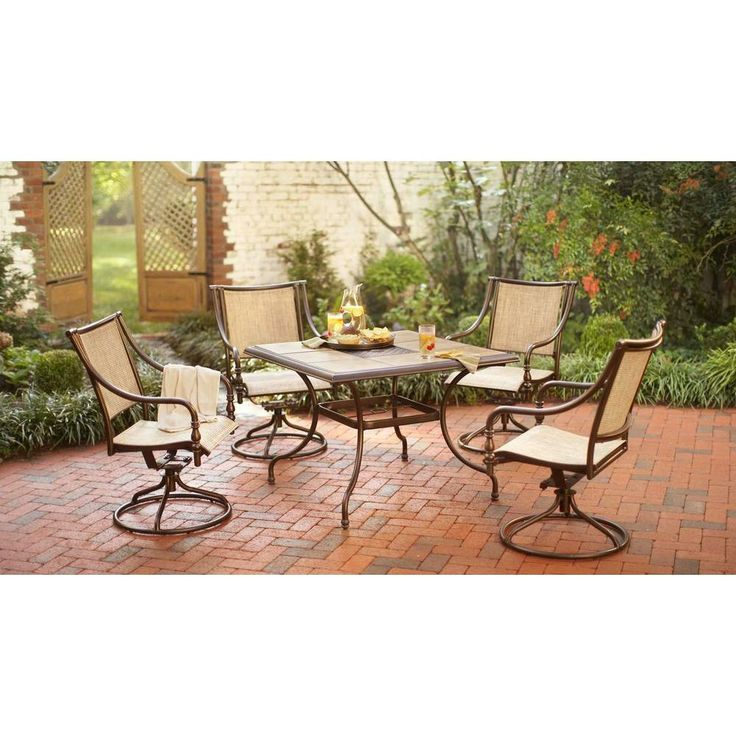 aluminum patio furniture home depot photo - 8