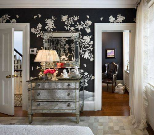 amelie mirrored bedroom furniture photo - 2