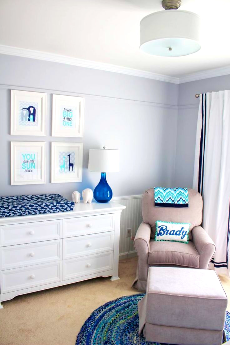 baby boy room with white furniture photo - 2
