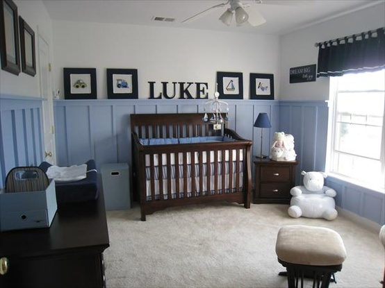 baby boy room with white furniture photo - 3