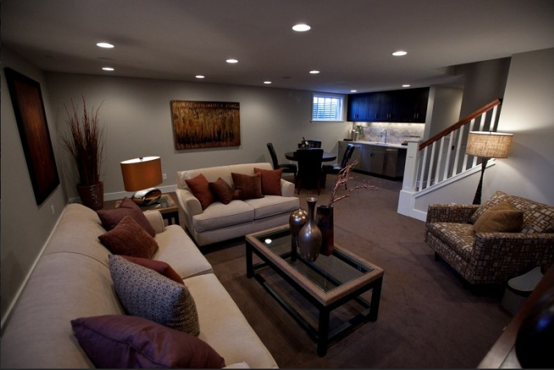 basement remodel ideas plans photo - 1