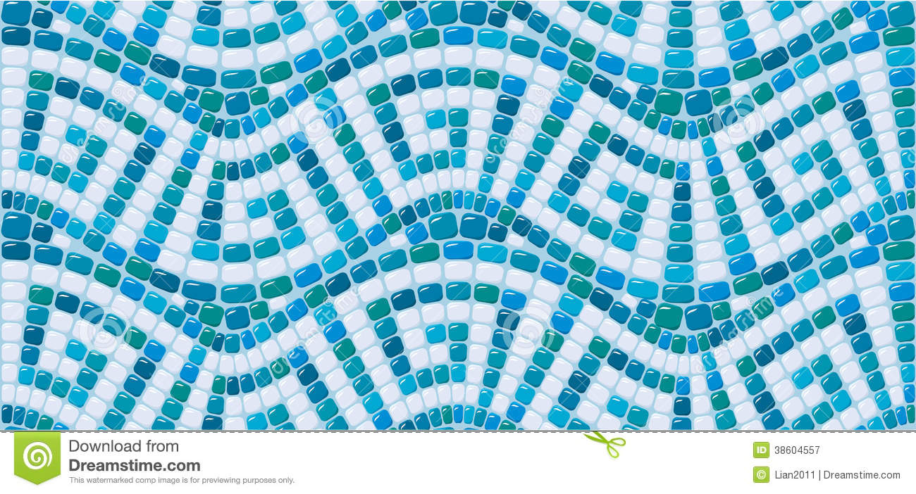 Bathroom tile designs mosaic - Brooklyn Apartment