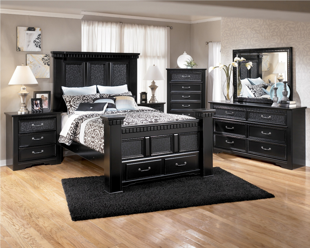 bedroom furniture black glass photo - 1