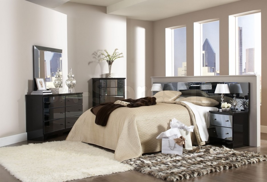bedroom furniture black glass photo - 10