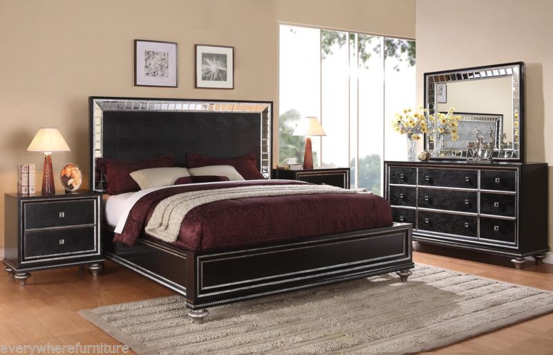 bedroom furniture black glass photo - 6