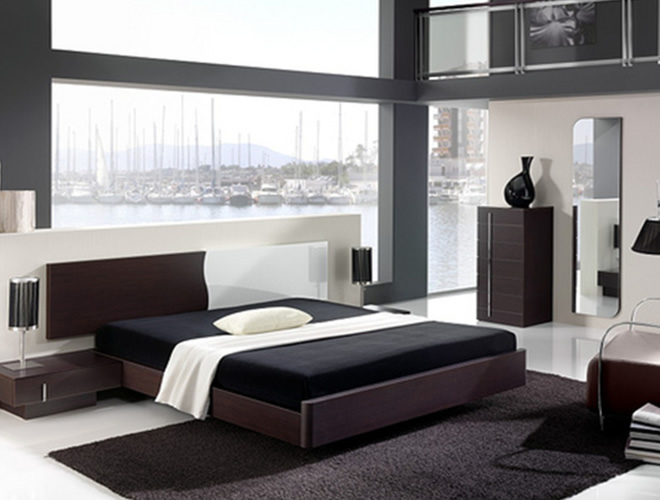 bedroom furniture black glass photo - 8