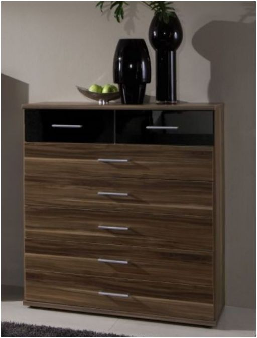 bedroom furniture black gloss and walnut photo - 8