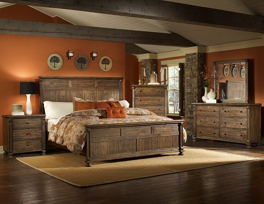 bedroom furniture sets rustic photo - 5