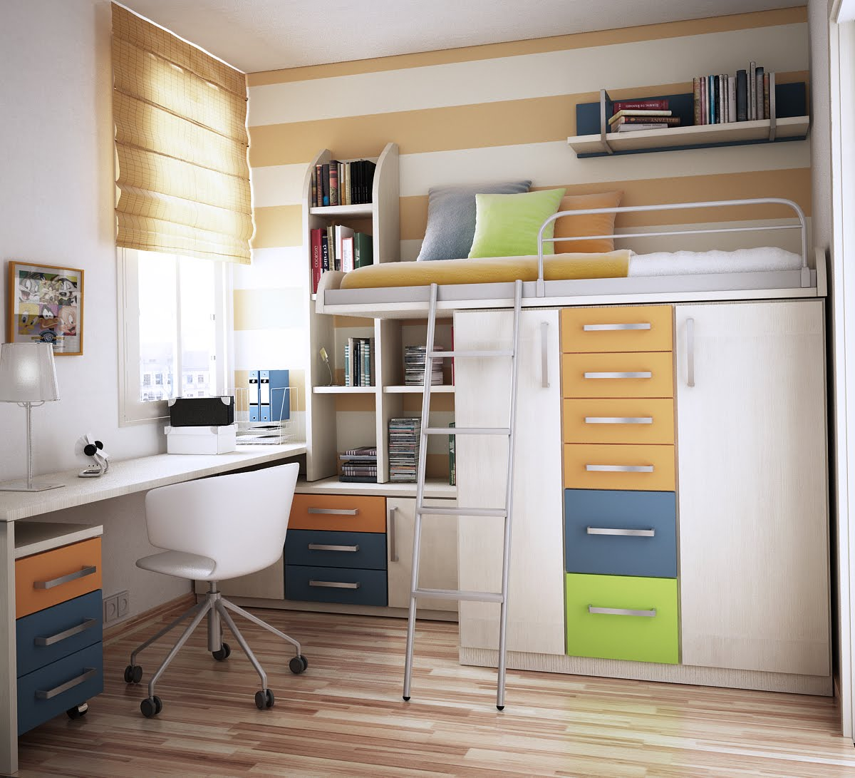bedroom furniture space saving ideas photo - 10
