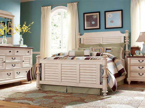 bedroom furniture white distressed photo - 10