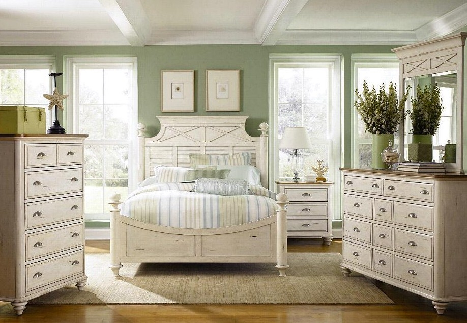 bedroom furniture white distressed photo - 9
