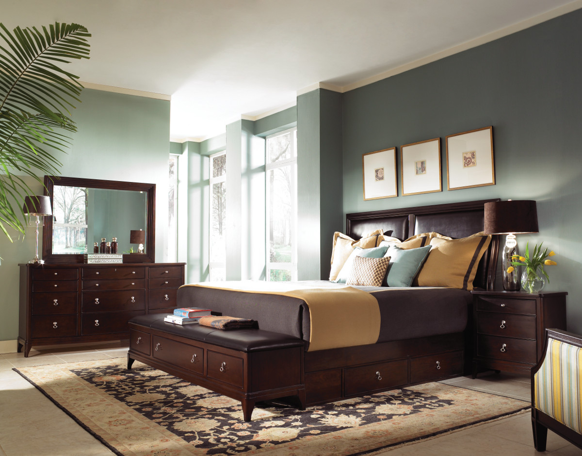 bedroom ideas with brown furniture photo - 9