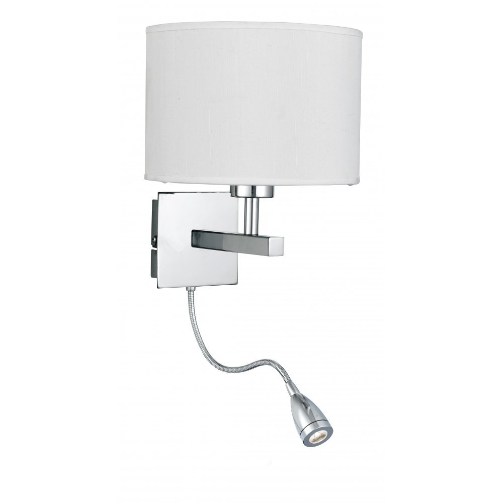 bedroom lamp with reading light photo - 1