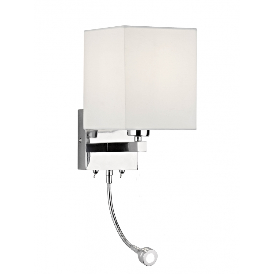 bedroom lamp with reading light photo - 5