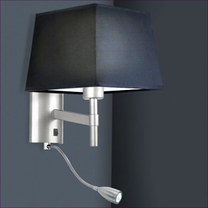 bedroom lamp with reading light photo - 6