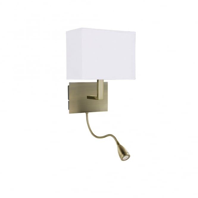 bedroom lamp with reading light photo - 7