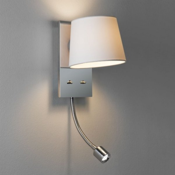 bedroom lamp with reading light photo - 9