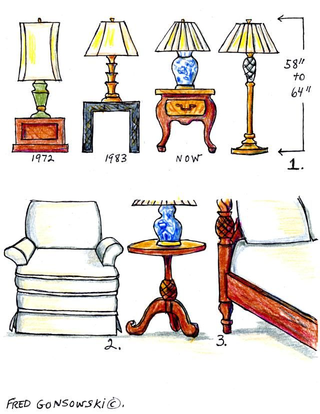 bedroom table lamp height photo - 5