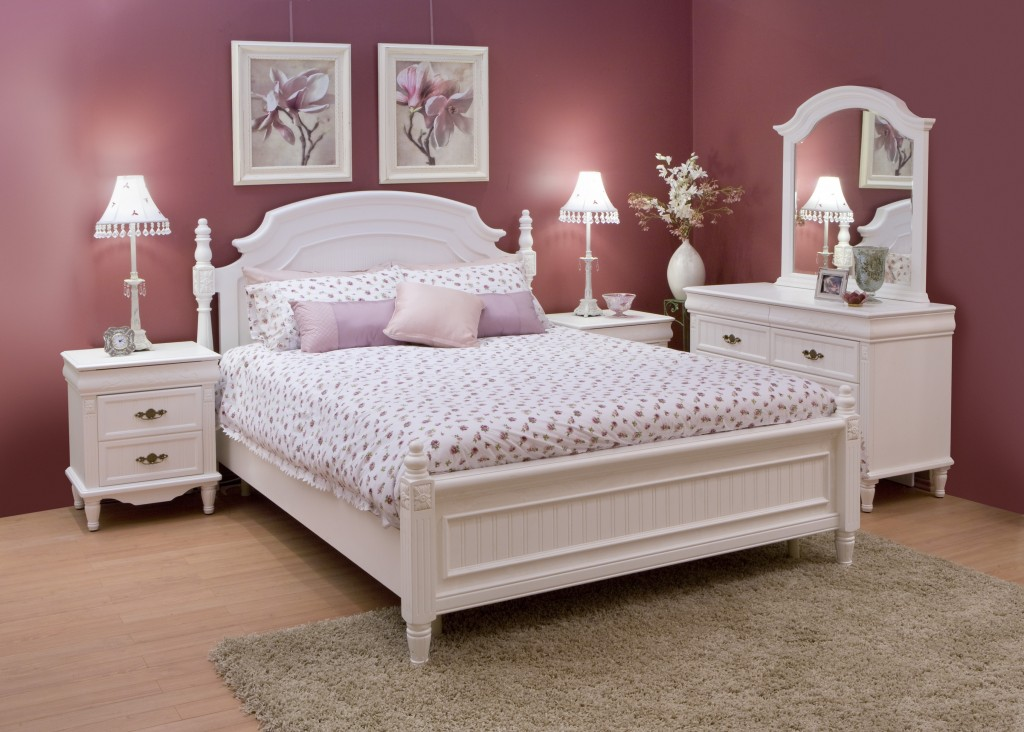 bedroom white furniture decorating photo - 3