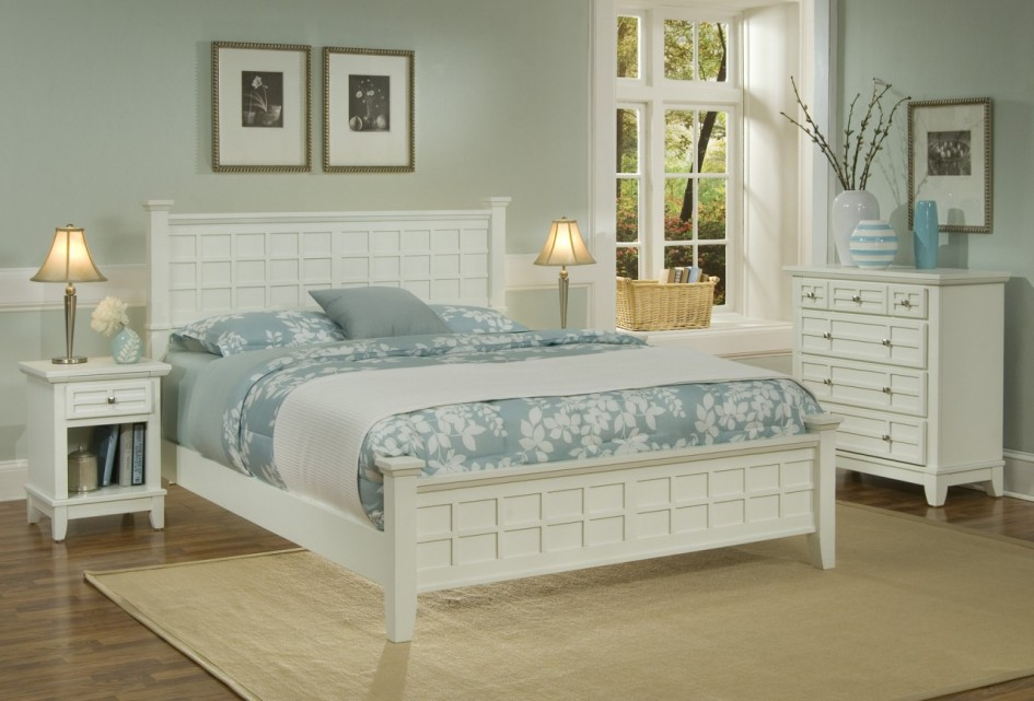 bedroom white furniture decorating photo - 4
