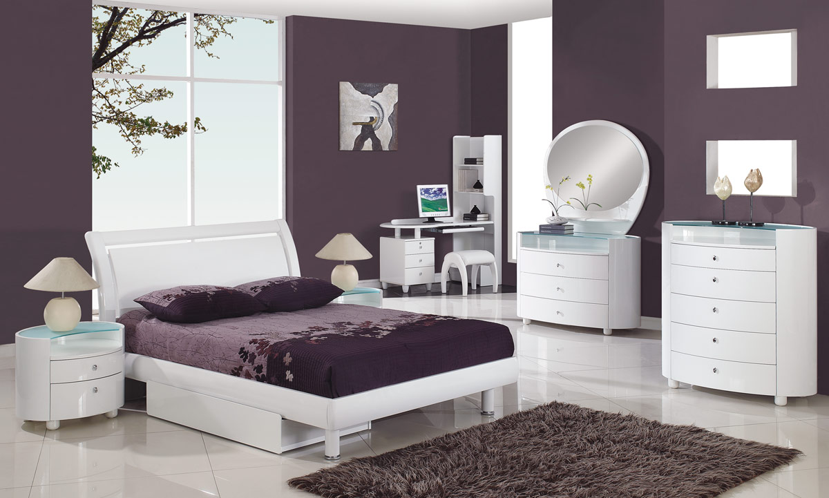 bedroom white furniture decorating photo - 8