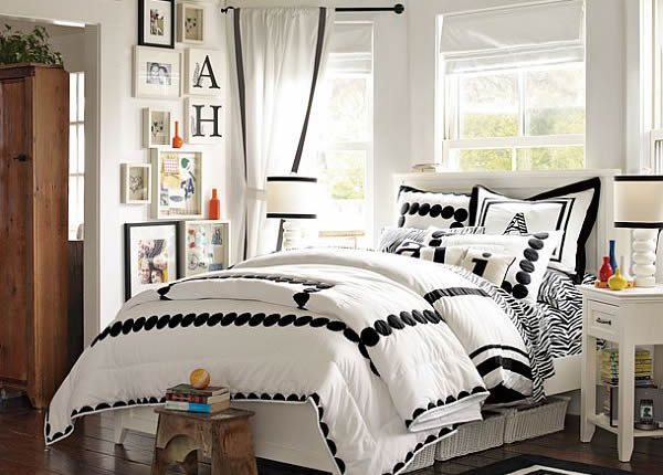 black and white bedroom designs for teenage girls photo - 4