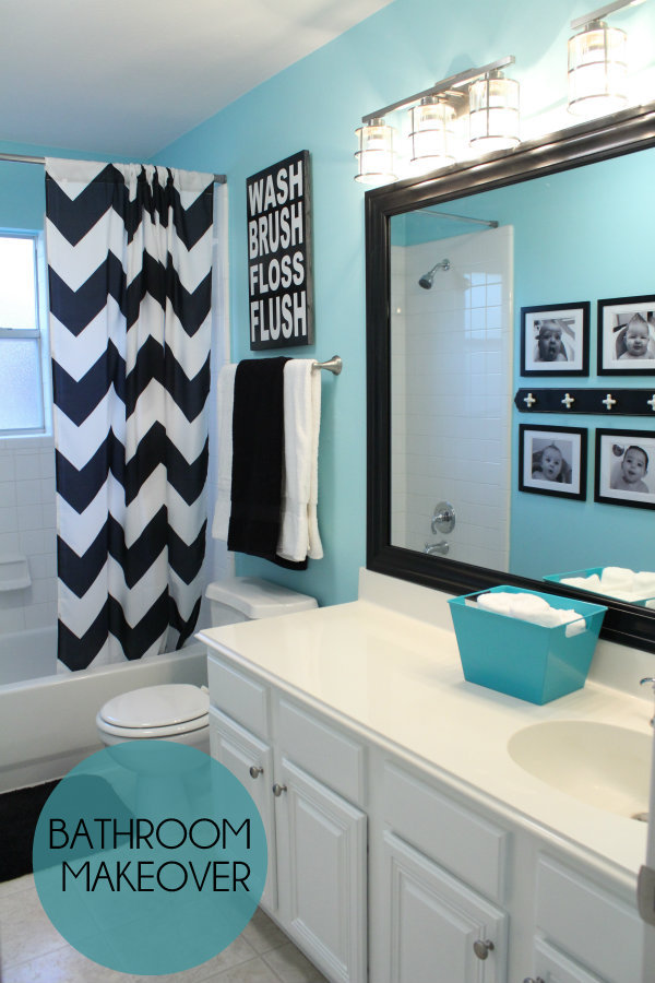 black and white kids bathroom ideas photo - 5