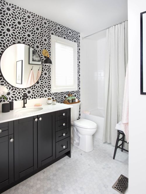 black and white kids bathroom ideas photo - 6