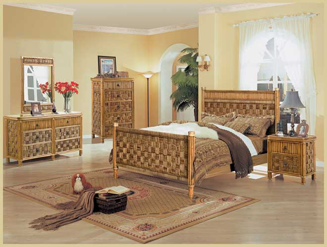black bamboo bedroom furniture photo - 2