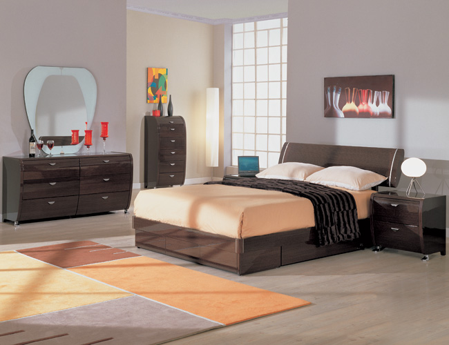 black bamboo bedroom furniture photo - 4