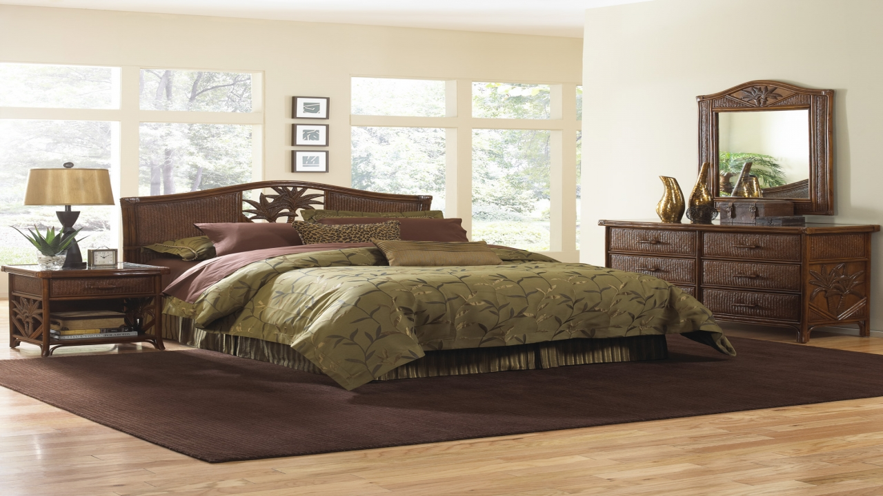 black bamboo bedroom furniture photo - 8