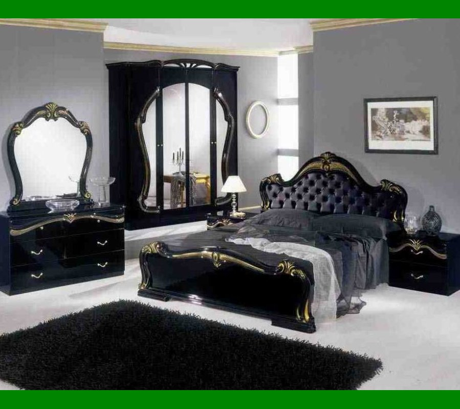 black bedroom furniture what color walls photo - 9