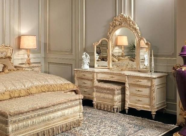 black bedroom furniture with gold trim photo - 4