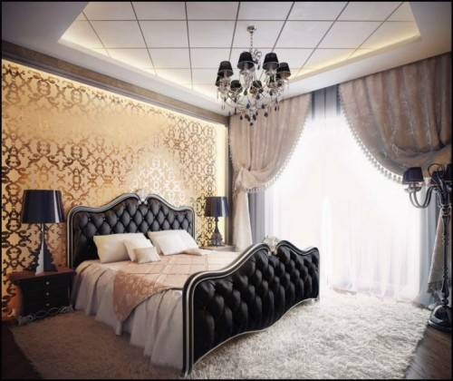 black bedroom furniture with gold trim photo - 8