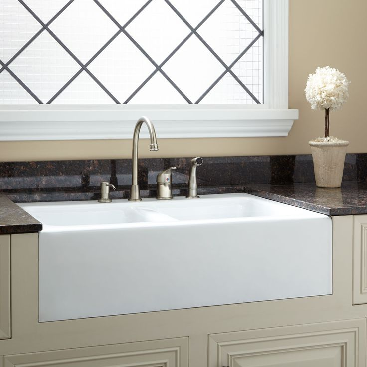 black granite farm sink photo - 2