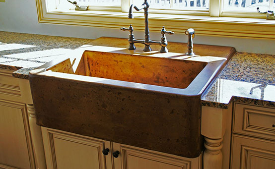 black granite farm sink photo - 5